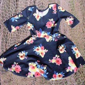 Justice blue floral dress size 8